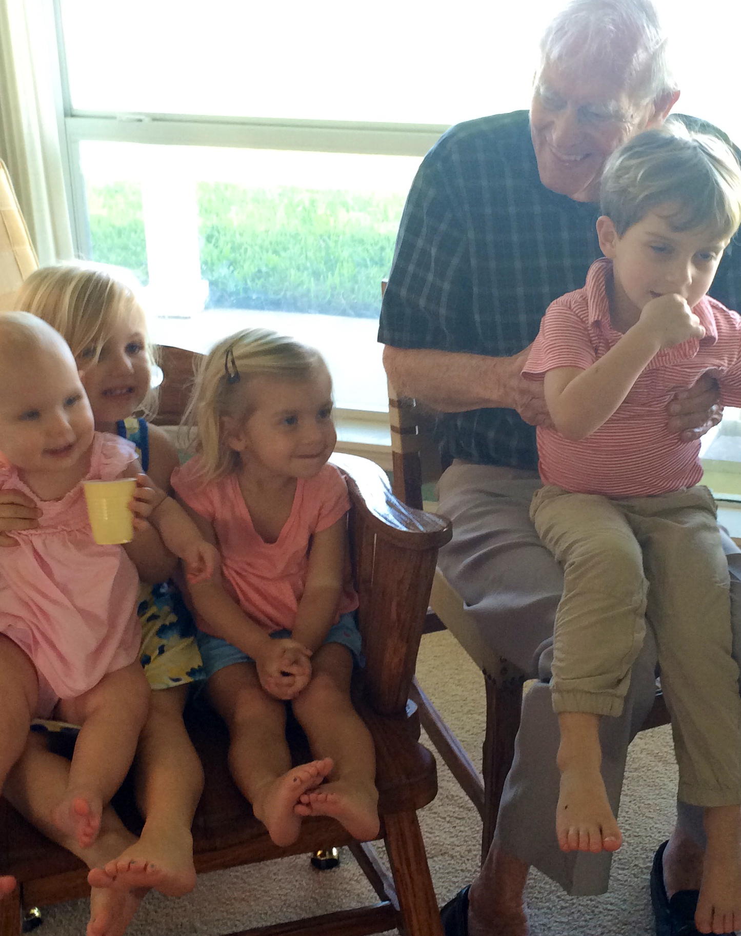 Dad and Great Grandkids